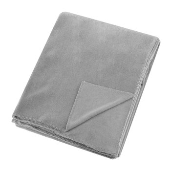 Soft Fleece Blanket - Light Gray