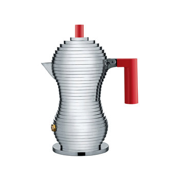 Pulcina Espresso Coffee Maker - Red