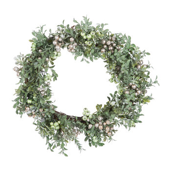 Two-Tone Green Leaf Wreath