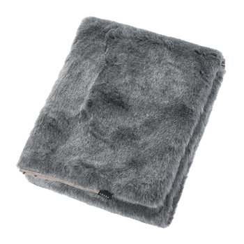 Faux Fur Throw - Charcoal