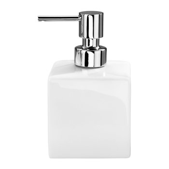 DW 525 Soap Dispenser - Porcelain White & Chrome