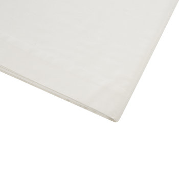 Cotton Sateen 300 Thread Count Flat Sheet - Ivory