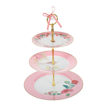 Floral 2.0 Three Tier Cake Stand - Pink