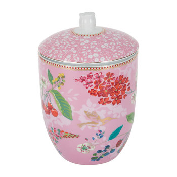 Floral 2.0 Hummingbird Storage Jar - Pink