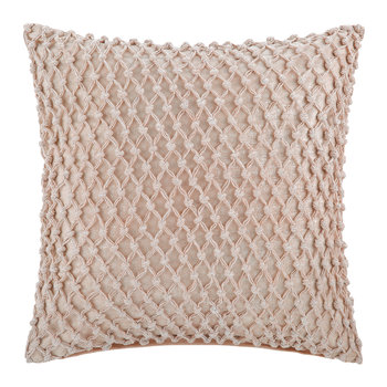 Gibberd Crochet Cushion - 45x45cm - Pink