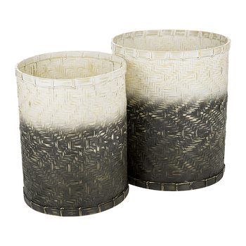Gray/Whitewash Baskets - Set of 2
