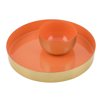 Carousel Bowl - Gold/Orange