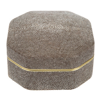 Shagreen Octagonal Box - Chocolate