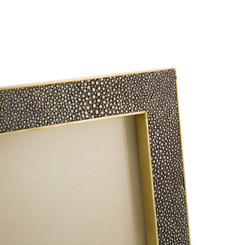 Chocolate Shagreen Frame