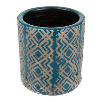Jamboree Blue Pot - Zigzag