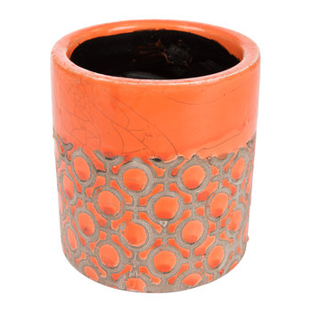 Jamboree Orange Pot - Dots