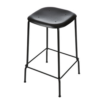 Soft Edge 30 Stool - Black/Oak