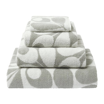 Acorn Cup Towel - Light Granite