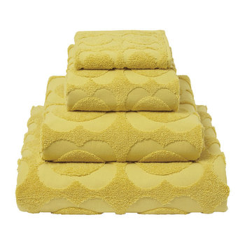 Spot Sculpted Flower Towel - Dandelion