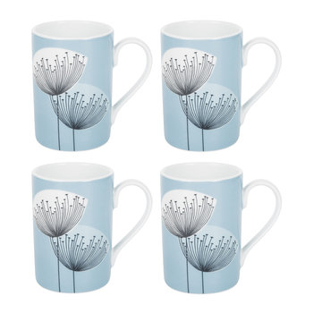 Dandelion Clocks Mugs - Set of 4