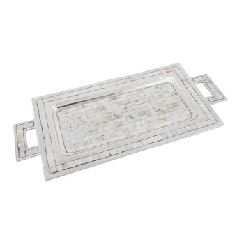 Classic Rectangular Tray with Handles - Mother of Pearl