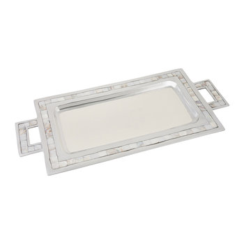 Classic Rectangular Tray with Handles - Snow