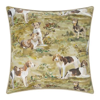 Mulberry Hounds Linen Cushion - 45x45cm