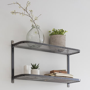 Farringdon Double Wall Shelf - Steel