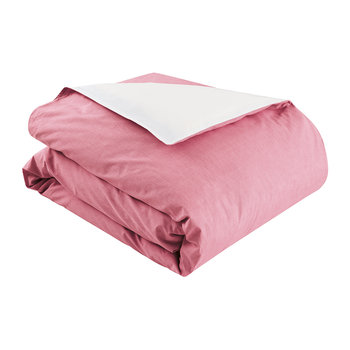 Chambray Duvet Cover - Pink