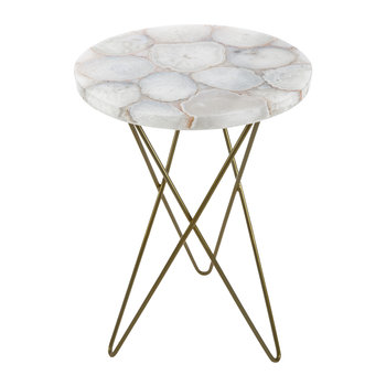 Agate Table - White