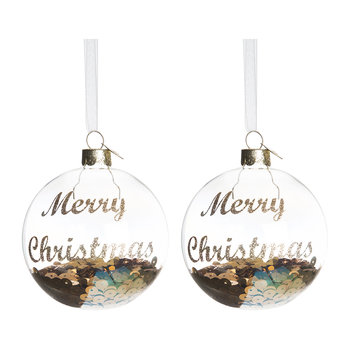 Sequined Oil Tree Decoration - Set of 2