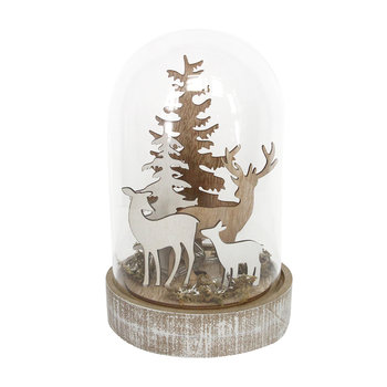 Deer in Glass Dome LED Ornament