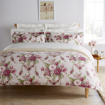 Tapestry Duvet Set - Mulberry