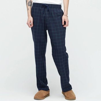Men's Flynn Check Lounge Trousers - Navy