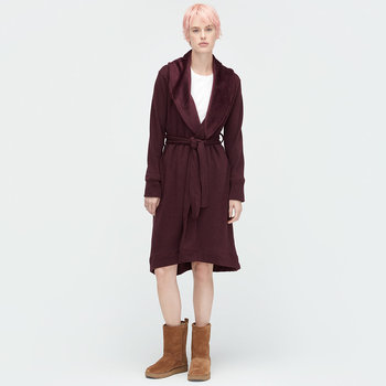 Women's Duffield Bathrobe - Port Heather