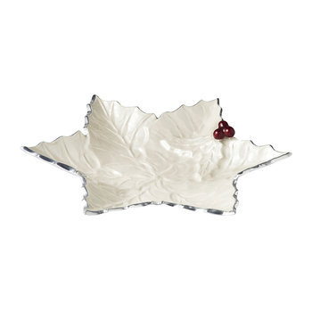 Holly Sprig Starflake Bowl - White
