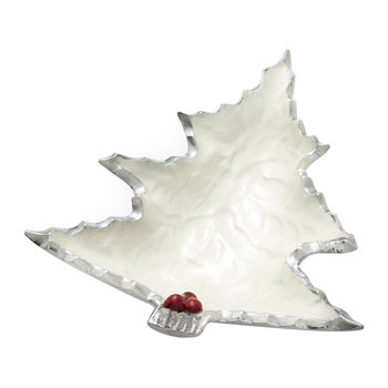 Petite Holly Sprig Tree Bowl - Snow