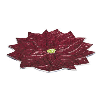 Poinsettia Platter - Pomegranate