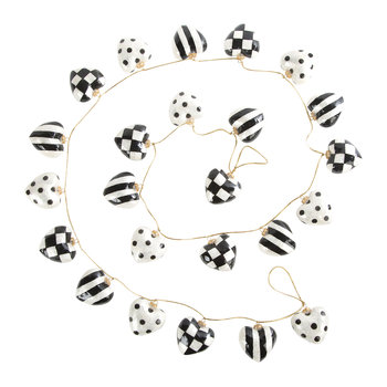 Black & White Heart Decorative Garland