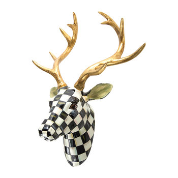 Courtly Check Deer Wreath