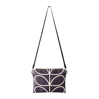 Laminated Giant Linear Stem Travel Pouch - Orchid