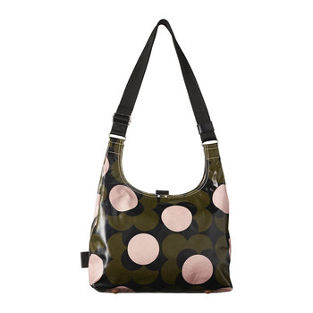 Laminated Shadow Flower Midi Sling Bag - Forest