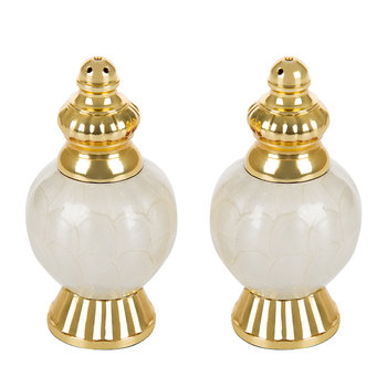 Peony Gold Salt & Pepper Set - Snow