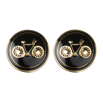 Bicycle Cufflinks - Black