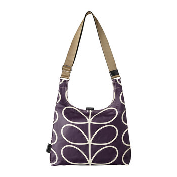 Laminated Giant Linear Stem Midi Sling Bag - Orchid