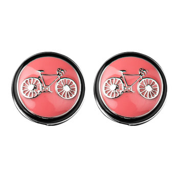 Bicycle Cufflinks - Red