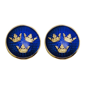 The Three Crowns Cufflinks - Gold