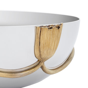 Deco Leaves Oval Bowl