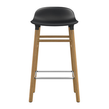 Form Barstool - Oak - Black