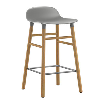 Form Barstool - Oak - Grey