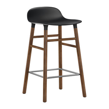 Form Barstool - Walnut - Black