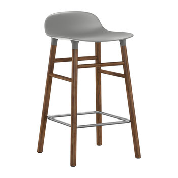 Form Barstool - Walnut - Grey