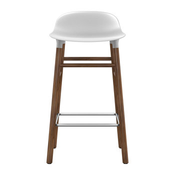 Form Barstool - Walnut - White