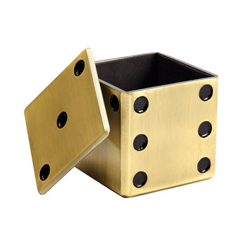 Dice Decorative Box - Gold