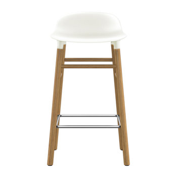 Form Barstool - Oak - White